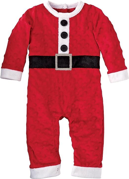 Mud Pie Minky Christmas Baby Girl/'s Santa TuTu One Piece or Baby Boy/'s One Piece