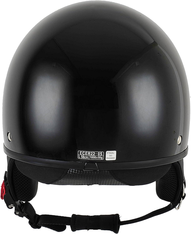 XS BHR Motorrad Helm 802 Demi-Typ mit Visier Versenkbare,Sterngr/ün 53//54 cm