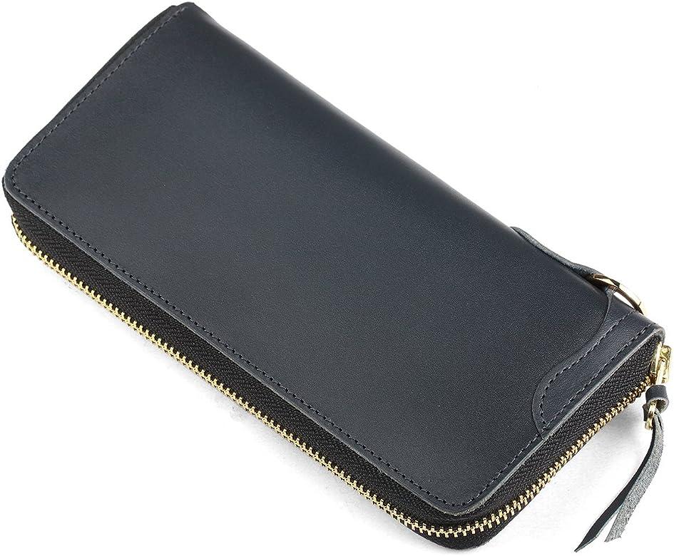 2d61c2493faf 長財布 本革 人気 ブランド メンズ レディース 男女兼用 ラウンドファスナー 大容量 カード多