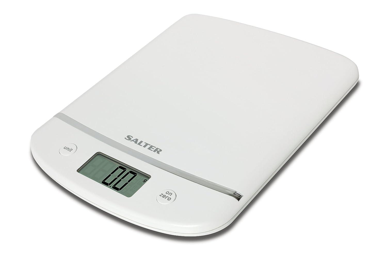 Salter Aquatronic Digital Kitchen Scales - Stylish White Chrome ...