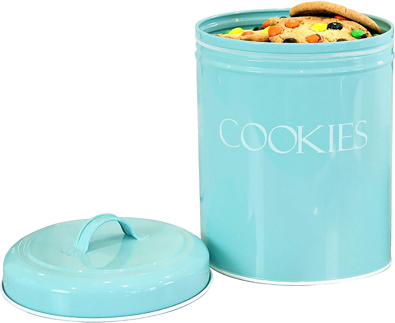 Amazon Com Outshine Mint Vintage Farmhouse Cookie Jar Airtight Food Storage Container With Lid For Cookies Biscuits Baked Treats Snacks Gift For Housewarming Birthday Wedding Christmas Kitchen Dining