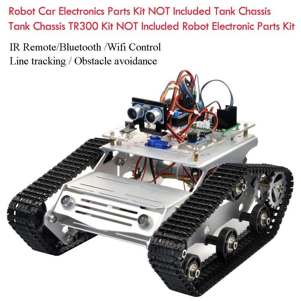 KOOKYE Roboter-Fahrgestell Smart Panzer Plattform Metall Edelstahl 2DW Motor 9V f/ür Arduino//Raspberry Pi DIY TR300