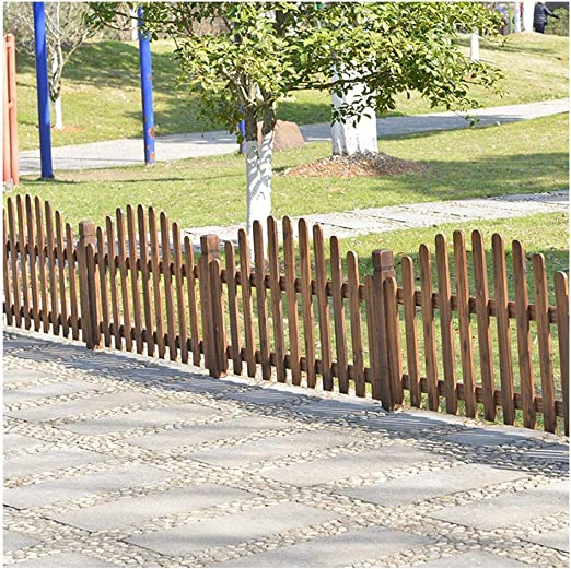 ZHANWEI Valla de jardín Bordura de jardín Decorativo Jardinería Paisaje Patio Césped Madera Maciza Barrera Animal, 2 Colores (Color : Brown, Size : 120x68cm): Amazon.es: Jardín