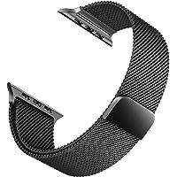 Microsonic Apple Watch Series 6 44mm Milanese Loop Kordon Siyah