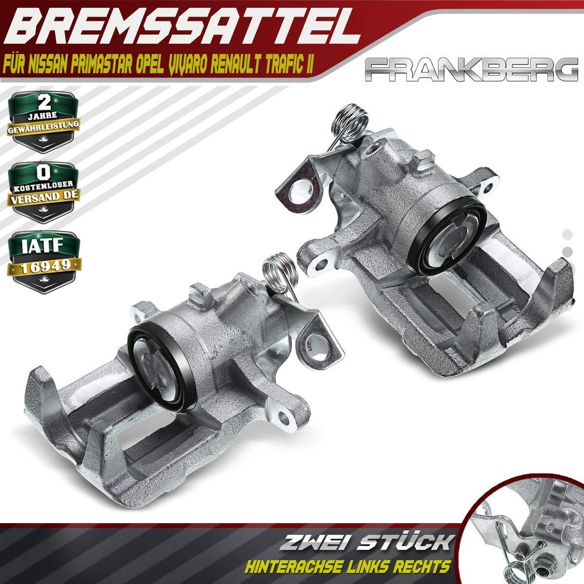 2x Bremssattel Bremszange Hinterachse Links Rechts f/ür Primaster X83 Vivaro J7 F7 E7 Trafic II JL FL EL Trafic III JG/_ FG/_ EG/_ 2001-2019