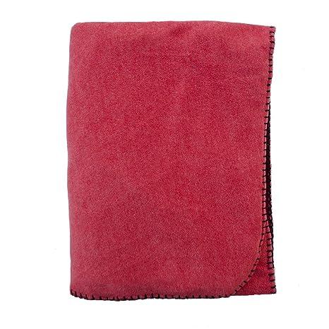 Amazon.com: Abedul manta de franela de algodón, color rojo ...