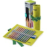 Lamy Plus 1226068 12 Colouring Pencils in Fabric Roll, Green