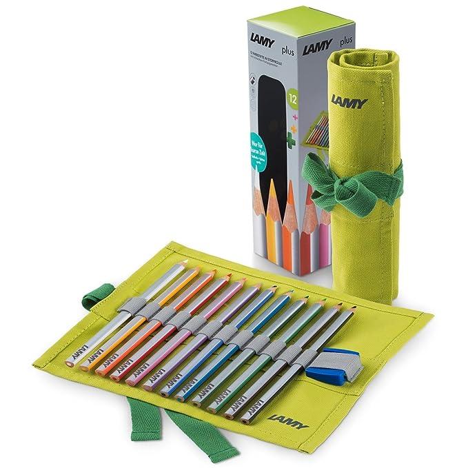 Amazon.com: Lamy Plus 1226068 12 lápices de colores en rollo ...