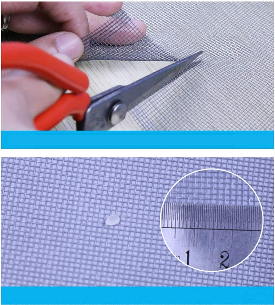 antimosquitos Mosquitera mosquitera magn/ética para ventana cortina de malla autoadhesiva gancho y desmontaje