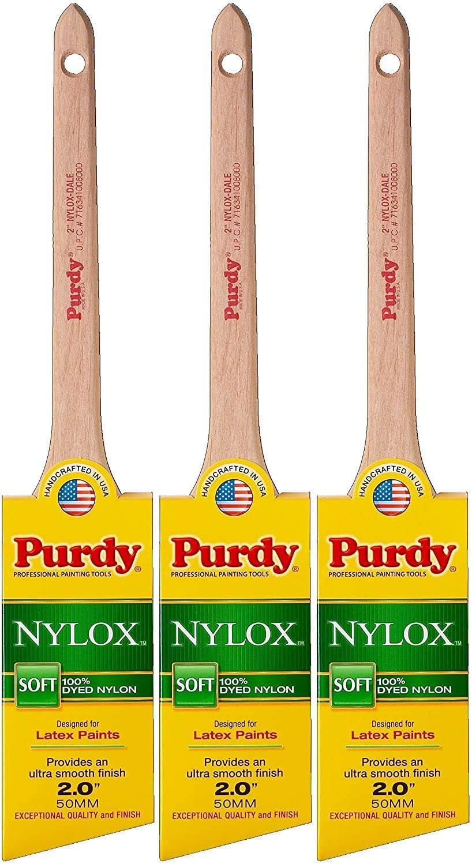 Purdy 144080220 Nylox Series Dale Angular Trim Paint Brush, 2 inch - 3 Pack - -