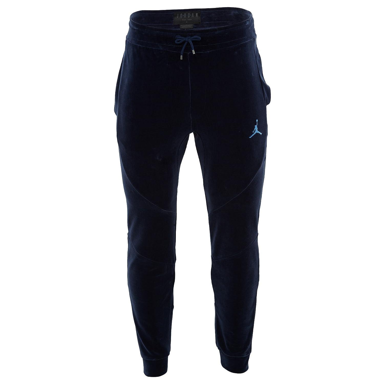 0f8598b027056e Jordan Men s Sportswear Velour Pants Midnight Navy University Blue (Medium)  at Amazon Men s Clothing store