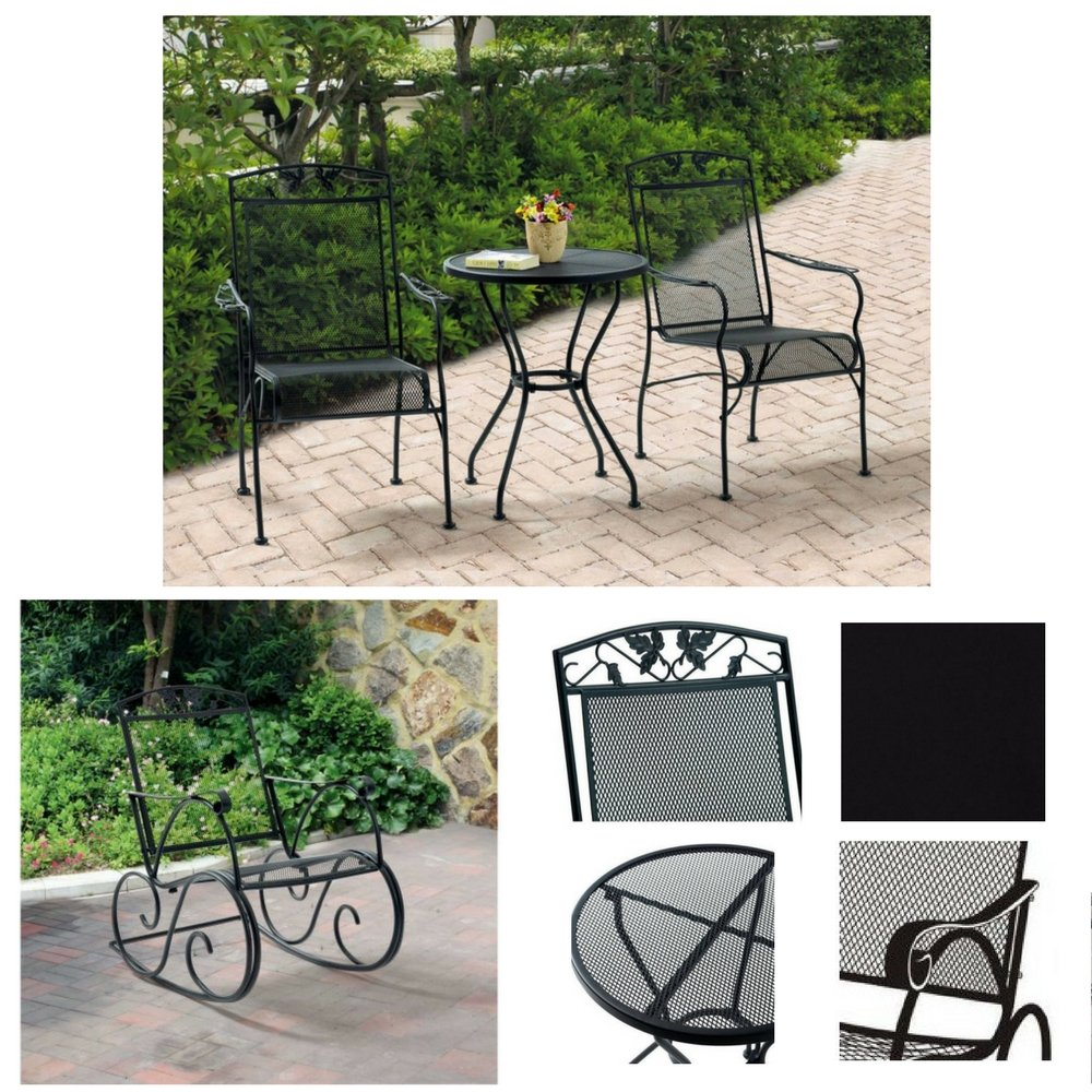 Brilliant Amazon Com Two Seater 3 Piece Bistro Set Porch Rocking Gamerscity Chair Design For Home Gamerscityorg