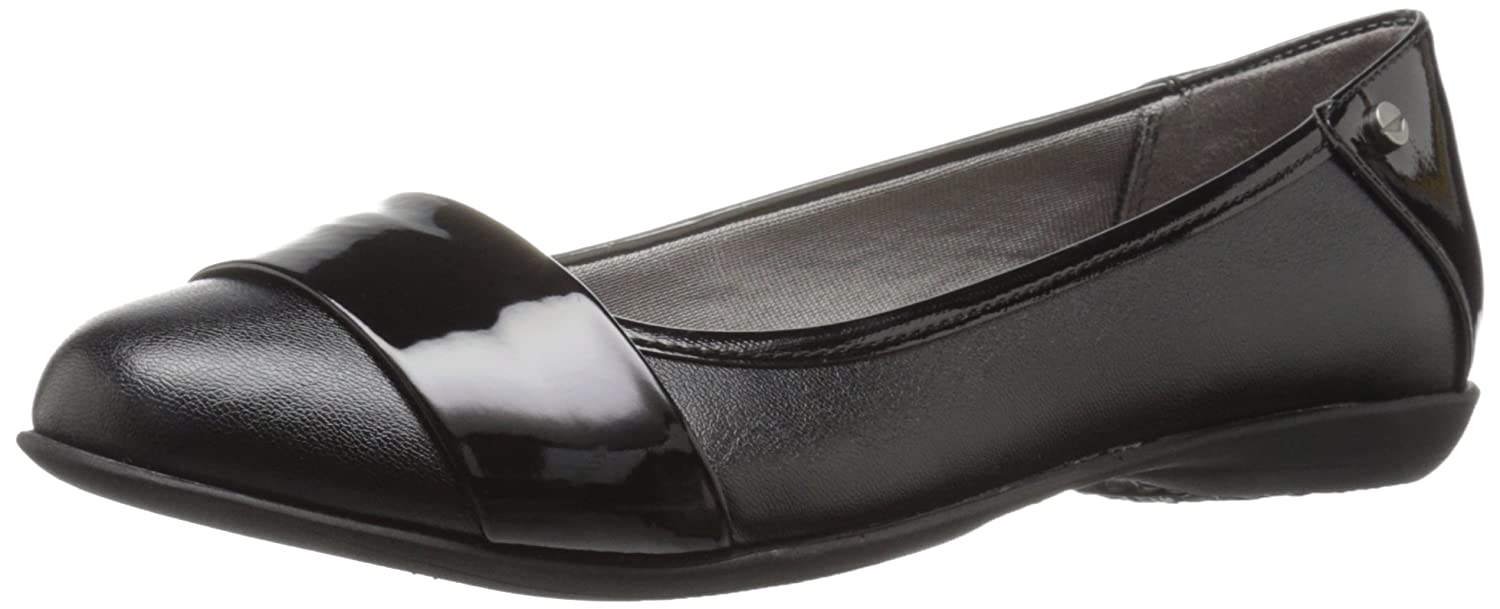 LifeStride Women's Attention Ballet Flat B01H7PDA2U 8.5 B(M) US|Black