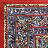Handmade Paisley Print 100% Cotton Tapestry Tablecloth Bedspread Beach Sheet Twin 70''x106''