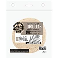 La Tortilla Factory Handmade Style White Corn and Wheat Street Taco Tortillas, 10-Pack of Non-GMO Corn Tortillas
