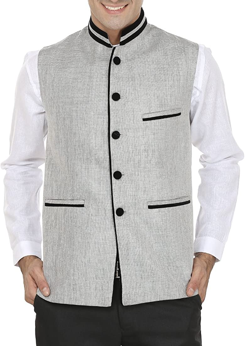WINTAGE Men's Rayon Bandhgala Festive and Casual Nehru Jacket Waistcoat-2 Colors