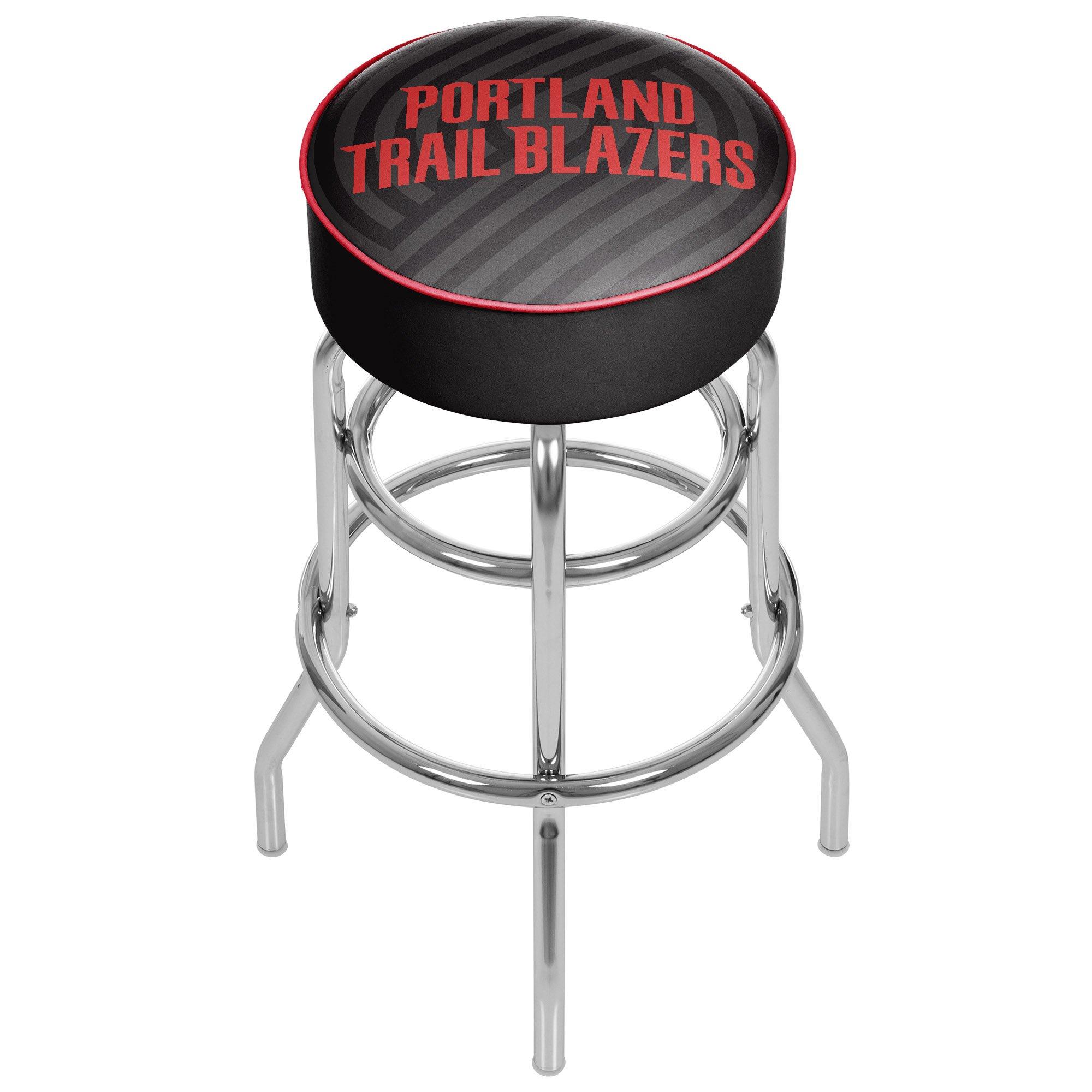 Trademark Gameroom NBA1000-PTB2 NBA Padded Swivel bar Stool - Fade - Portland Trailblazer by Trademark Global