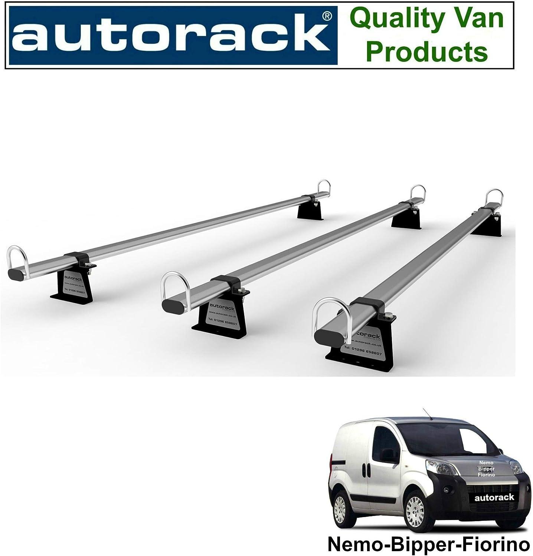 AutoRack WorkReady 2008 onward FIAT FIORINO Van Roof Rack 3 Bars