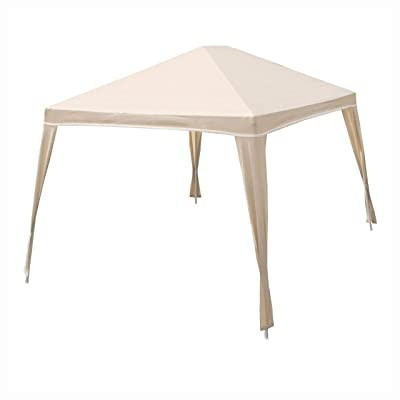 Gazebo & Canopy, Weather Resistant 10-Ft x 12-Ft Gazebo with UV Blocking Canopy in Camel: Health & Personal Care