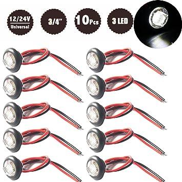 Nat - LED Trailer Seitenmarkierung Licht & Licht - 3/4 Zoll - 12 V ...