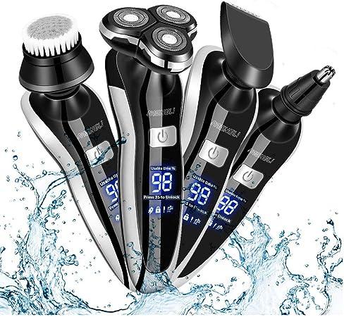 Afeitadoras eléctricas rotativas para hombre/Recortador de Barba ...