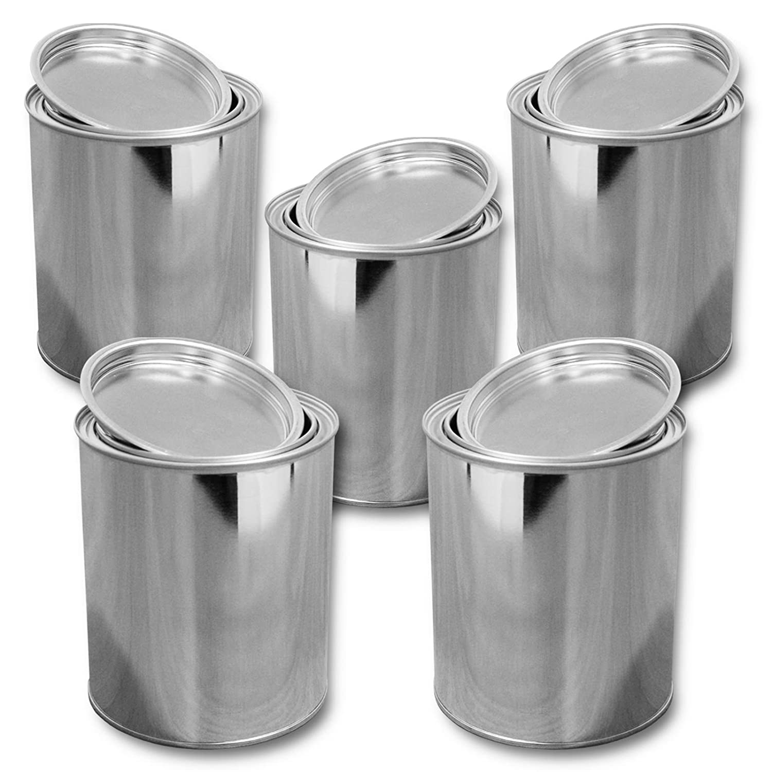Set di 5 scatole di latta con coperchio 1000 ml (5x23003) Wilai GmbH