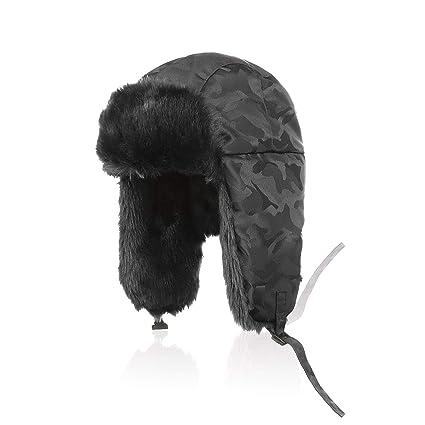 dc28561ea9572 Aurya Winter Unisex Trapper Trooper Hunting Hat Warm Ushanka Russian Hat  Faux Fur Skiing Hat Cap
