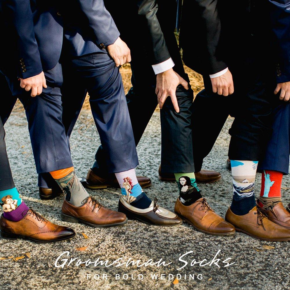 Bonangel Men's Fun Dress Socks-Colorful Funny Novelty Crew Socks Pack,Art Socks by Bonangel (Image #5)
