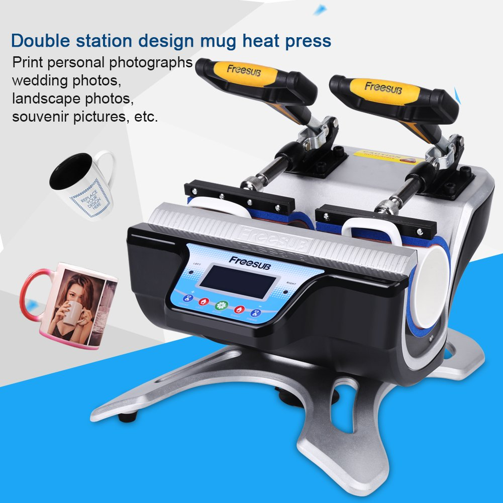 Double Stations Mug Heat Press ST-210 Sublimation Transfer Printing Machine (110V US Plug) by Yosooo