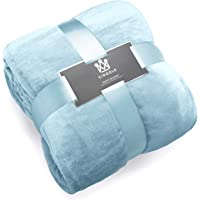 Kingole Flannel Fleece Luxury 350GSM Lightweight Cozy Couch/Bed Ultra-Soft Plush Microfiber Solid Color Blanket