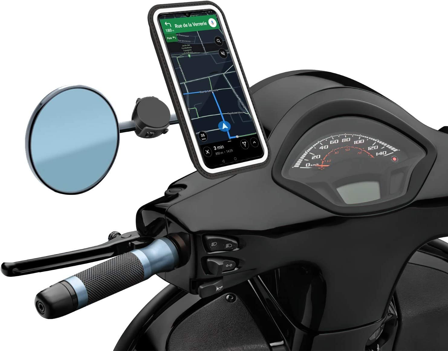Shapeheart Soporte Movil Magnético para Scooter, Talla XL, Smartphone hasta 16.8cm