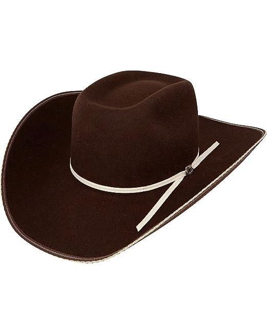 64d107a972f64 Resistol Men s 4X Tuff Hedeman Snake Eyes Felt Cowboy Hat Cordovan 7 ...