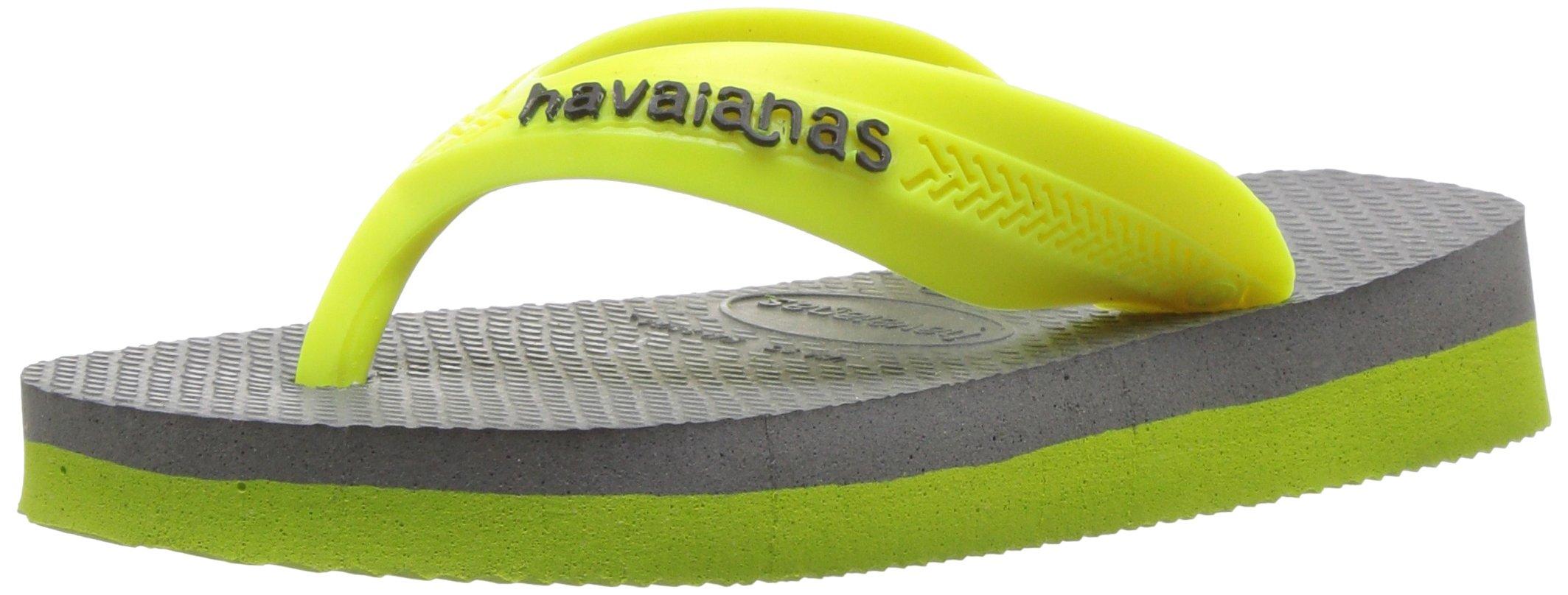 Havaianas Boys MAX Sandal Steel Grey Flip Flop, 27/28 BR/11/12 M US Little Kid