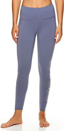 Gaiam Women's High Rise Waist Yoga Pants - Performance Spandex Compression Leggings