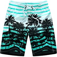 c269fb8cf57 GREFER Men Plus Size Swim Trunks, Summer Print Quick Dry Beach Shorts Great  for Surfing
