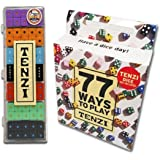 Tenzi Dice Party Game with 77 Ways to Play - 6 Sets of 10 Colored Dice with 77 Card Game Add-On (Colors May Vary)