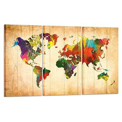 Amazon Com Kreative Arts Large Canvas Wall Art Prints World Map