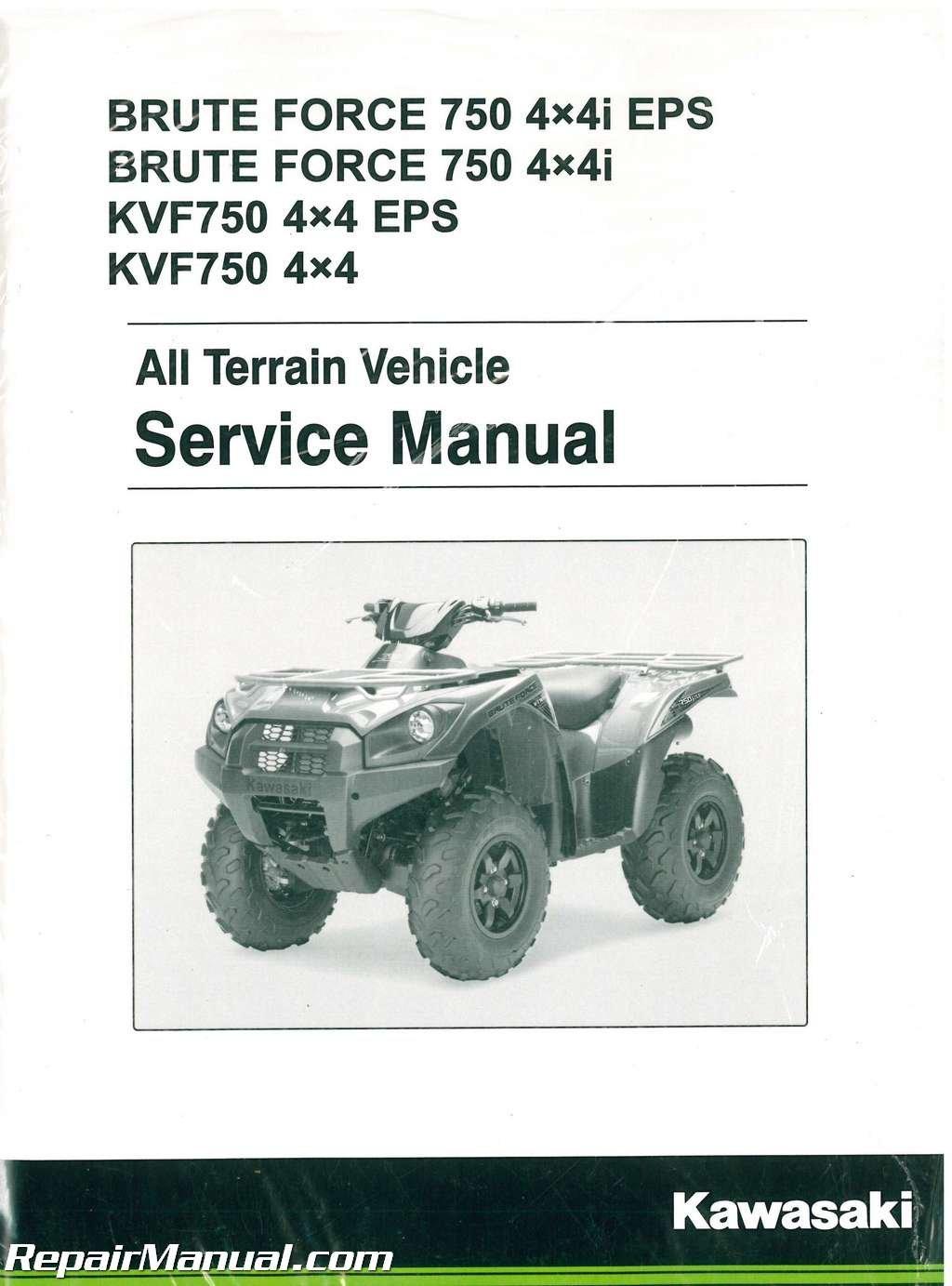 99924-1446-05 2012-2016 Kawasaki Brute Force KVF750 4x4 4x4EPS 4x4i 4x4i  EPS ATV Service Manual: Manufacturer: Amazon.com: Books