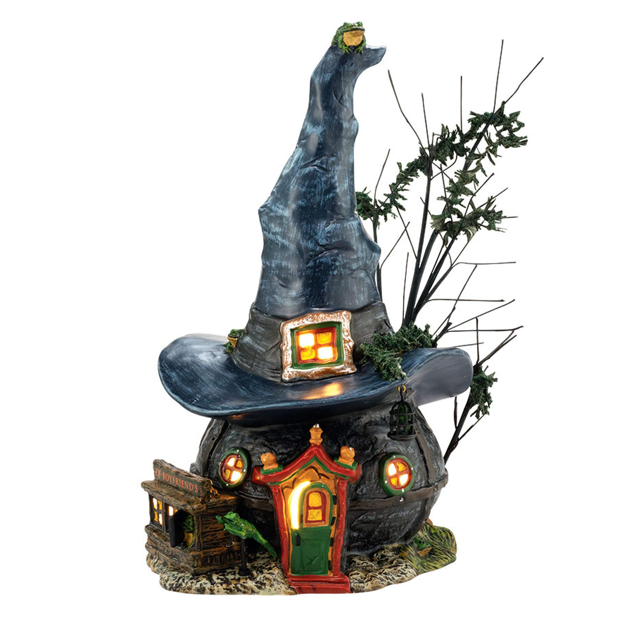 Department 56 Snow Village Halloween Toads and Frogs Witchcraft Haunt Lit House, 5.91 inch by Department 56
