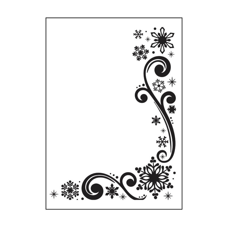 Snowflake Scroll Design 4.25 by 5.75-Inch Darice 1218-117 Embossing Folder