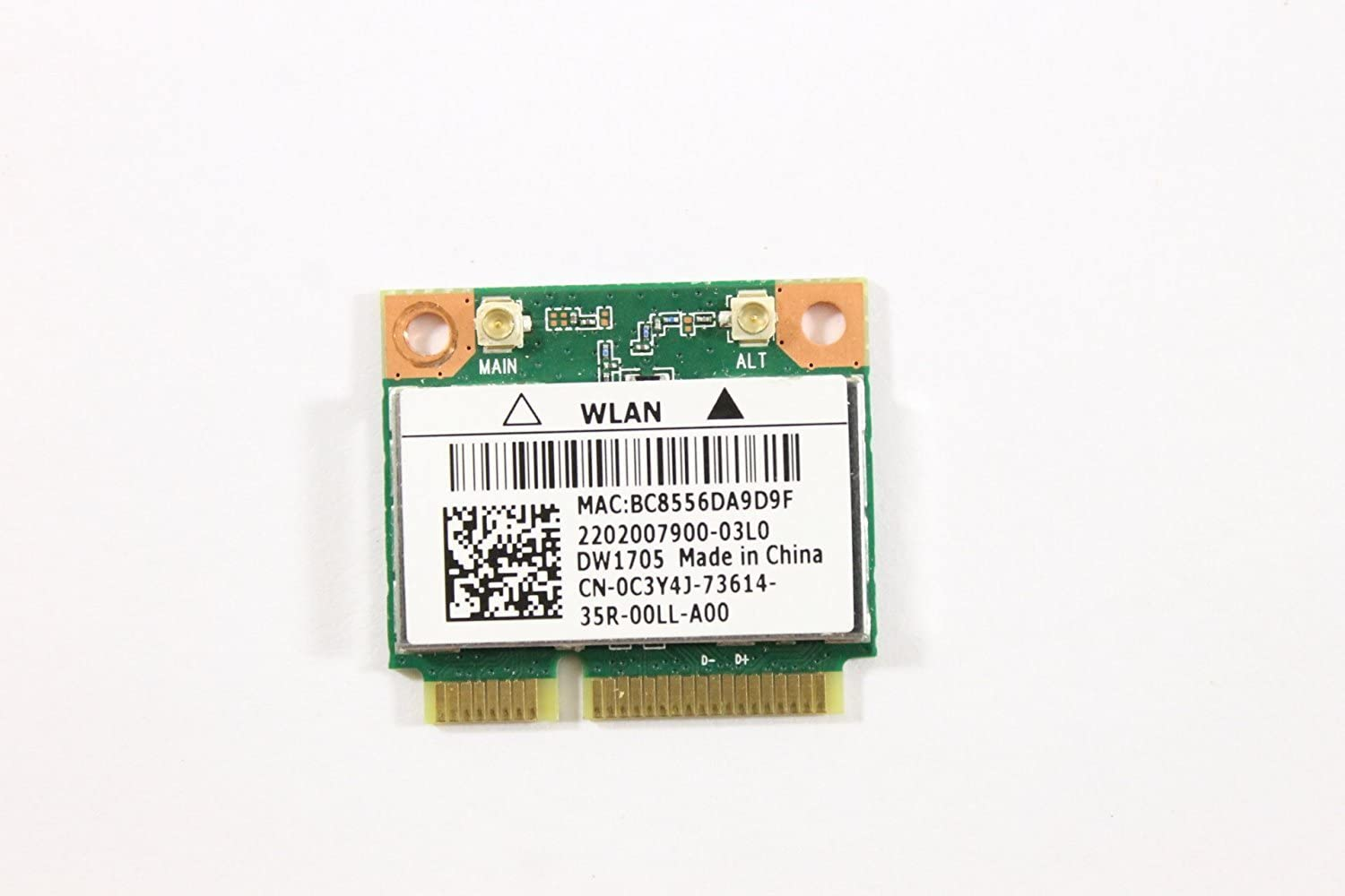 Dell Mini PCI Express Half Height C3Y4J WLAN WiFi 802.11n and Bluetooth Wireless Card DW1705 Inspiro