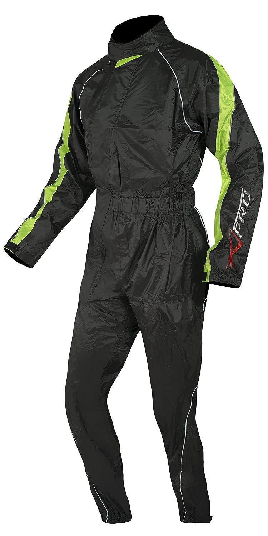 A-Pro Regenkombi Wasserdicht Motorrad Roller Regenhose Regenjacke Regenanzug Fluo XS