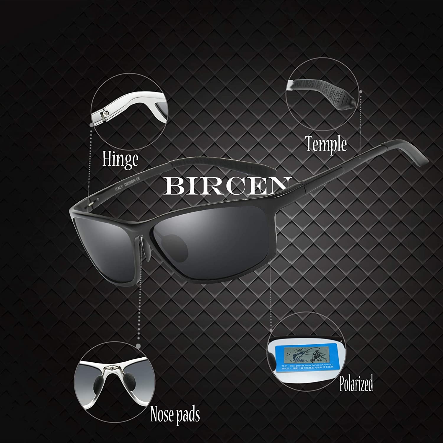 06a8348c495 Amazon.com  HOT Fashion Driving Polarized Sunglasses for Mens Womens Sports  Design Anti Glare Glasses for Outdoor Sunglasses by Bircen  Clothing