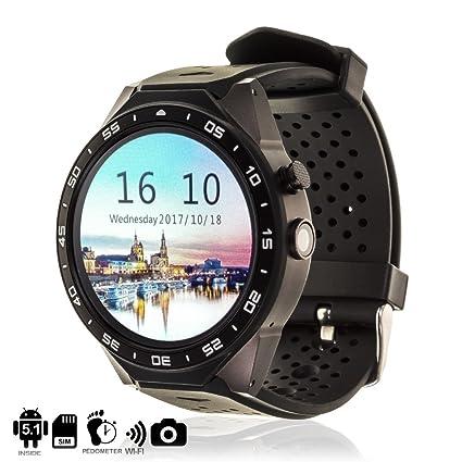 DAM TEKKIWEAR. DMX029BLACK. Smartwatch Phone Kw88 con Sistema Operativo Android 5.1, Cámara 3Mpx