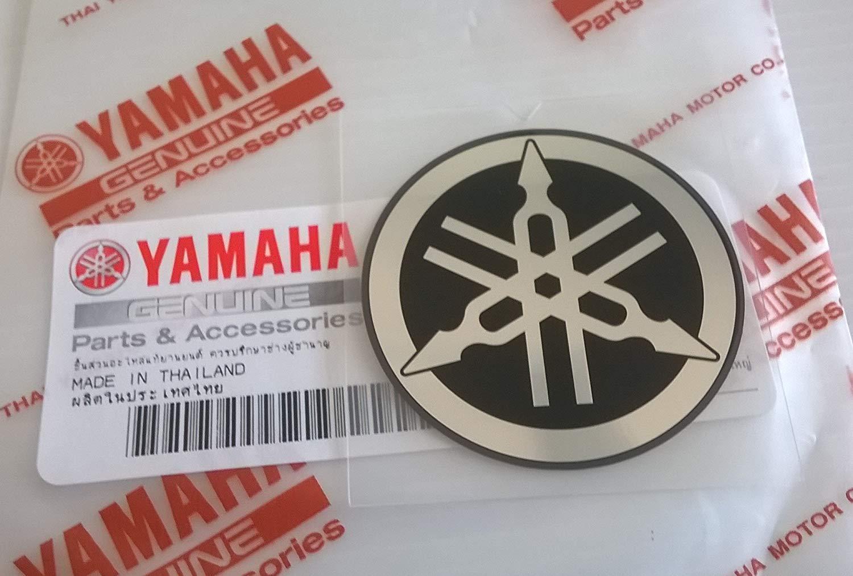 Yamaha 100/% Genuine 45mm Diam/ètre Diapason Autocollant Embl/ème Logo Argent//Noir Moto Motoneige Atv Jet Ski