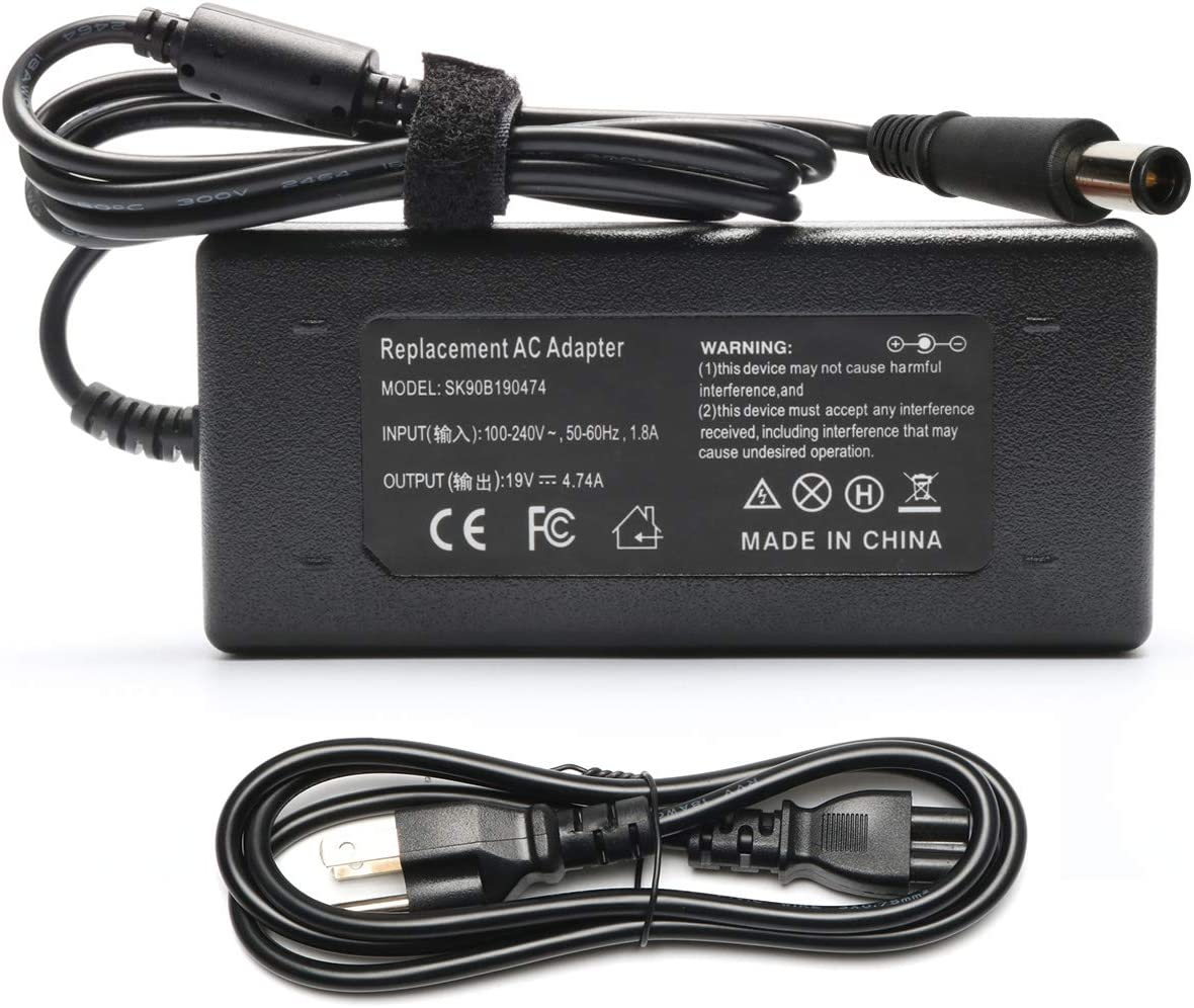 19V 4.74A 90W High Power Supply+Cord Charger Adapter for HP Elitebook 8440p 2540p 8470p 2560p 6930p 8560p 8540w 2570p 8540p 8570p 2760p 2170p 8530w