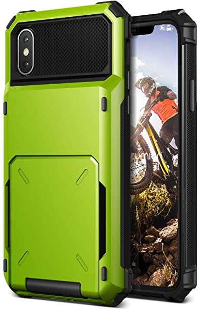 super popular e2228 818e4 iPhone X Case, [HEAVY DUTY DROP PROTECTION] Hybrid Card Slot Wallet Cover  [Shock Absorbent Cover] for Apple iPhone X / iPhone 10 (2017) by Lumion ...