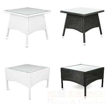 Amazon.de: Polyrattan Tisch - versch. Größen Beistelltisch Rattan ...