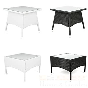 Amazon De Estexo Polyrattan Tisch Versch Grossen Beistelltisch