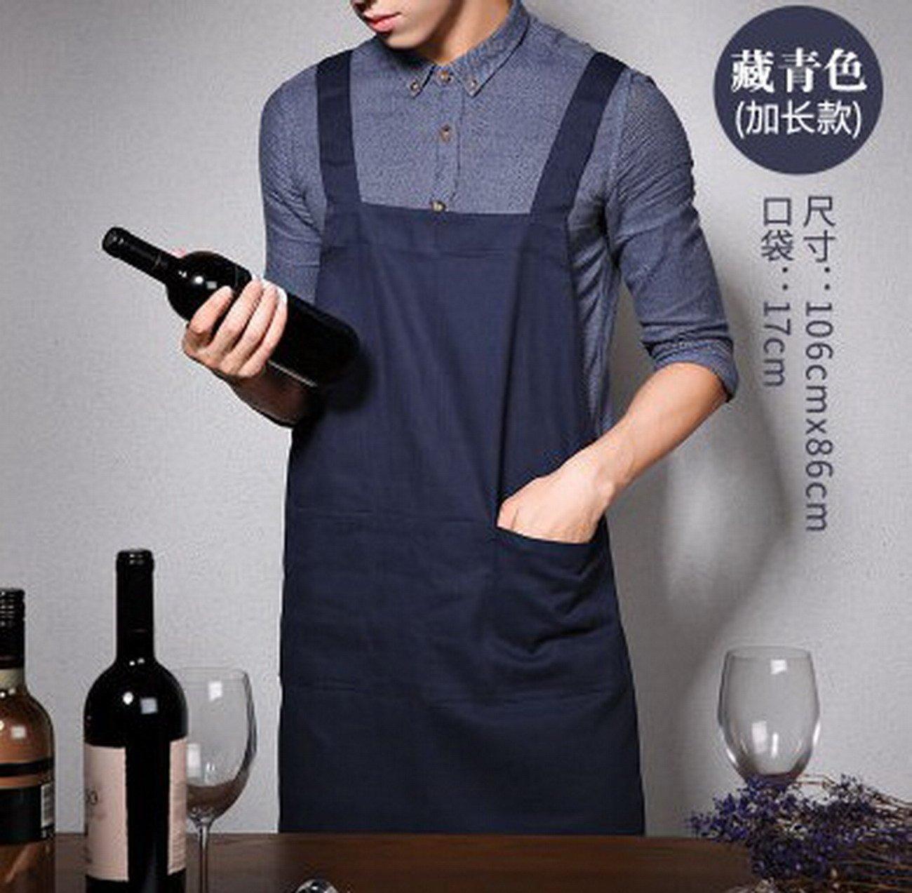 Geranjie韓国ファッションエプロンカフェミルクティーメンズ、レディース、キッチンコットンオーバーオール   B078RHMMJJ